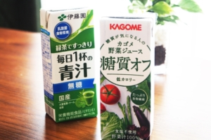 野菜ジュースと青汁